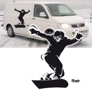 Carsticker, Snowboarder in unterschiedl.Grössen.
