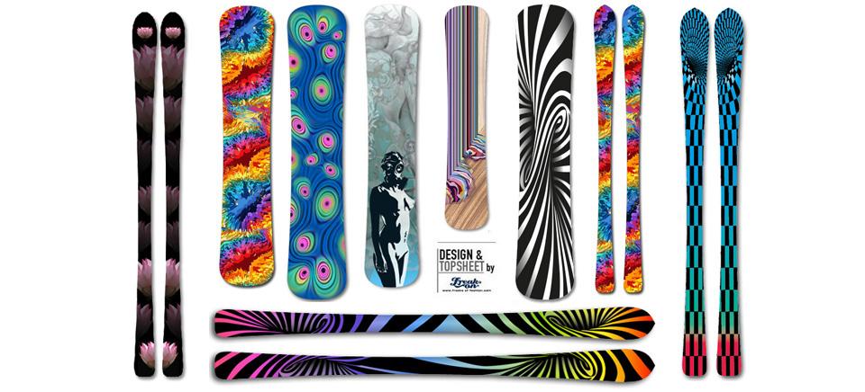 Dein eigenes Ski- oder Snowboarddesign oder ein Boarddesign aus unserer Gallery