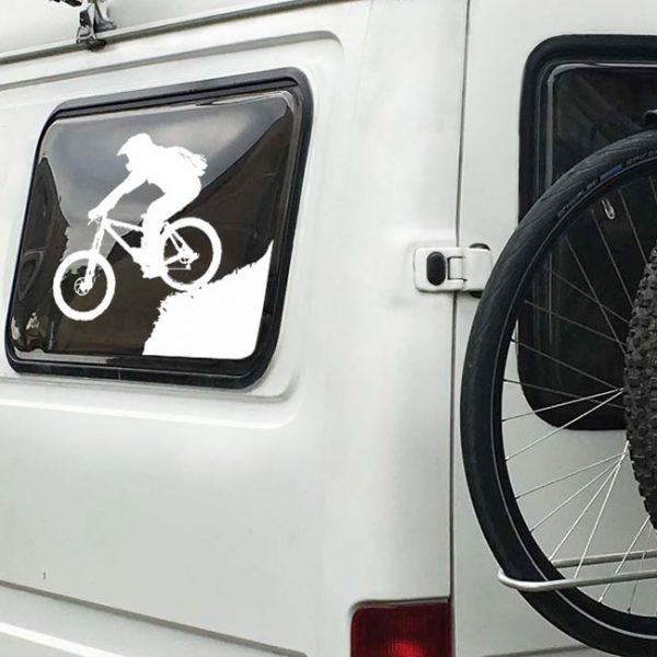 Mountainbiker Autoaufkleber