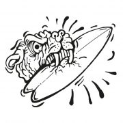 Dog_eats_surf1_carsticker