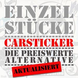 Unsere Carsticker als Einzelstücke, die preiswerte Alternative