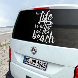 Autoaufkleber, life_is-better_at_the-beach